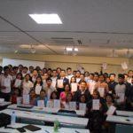 ネパール人留学生の奨学生推薦状授与式 (8/27) その1