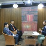 今回のネパール訪問でも、新聞取材とテレビ出演がありました。